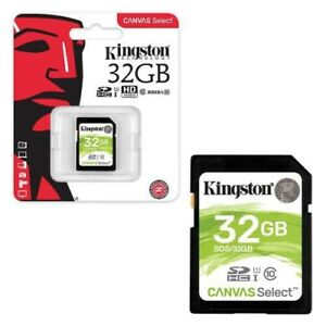 Kingston Canvas Select 32GB SD SDHC Memory Card, Class10,UHS- I,80MB/s UK