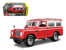 Old Land Rover Red 1:24 Diecast Model - Bburago 22063Rd*