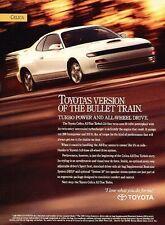 1991 Toyota Celica ALL Trac Turbo  Original Advertisement Print Art Car Ad J554
