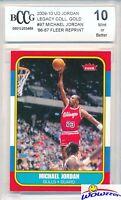 1986 Fleer Michael Jordan ROOKIE Replica Beckett 10 MT Legacy GOLD Hall of Fame