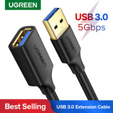 UGREEN USB Extension Cable USB 3.0 2.0 Extender Cord for PC Phone Black / White