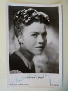 Heidemarie Hatheyer † 1990,Rüdel Autogrammkarte (1955)