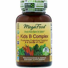 MegaFood - Kid's B Complex,Promotes cognitive focus and a sense of calm. 30 ct.