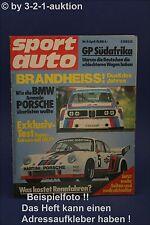 Sport Auto 4/76 Fiat Abarth 131 Rally BMW 630 + Poster