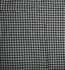 RALPH LAUREN BLACK & OFF WHITE HOUNDSTOOTH TWIN FLAT SHEET