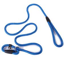 Dog Leash Whisperer Cesar Millan Style Slip Training Nylon Lead Collar Rope blue