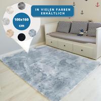 Teppich Hochflor 100x160 Shaggy Flokati Langflor Fußmatte Läufer Weich 6 Farben