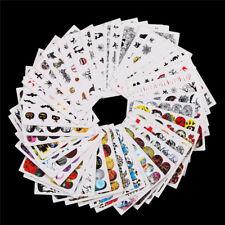 48pcs Nail Art Sticker Water Decals Transfer Stickers Halloween Skulls Set