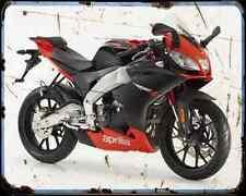 APRILIA Rs4 50 10 01 A4 Metal Sign moto antigua añejada De
