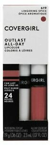 NIB CoverGirl Outlast All-Day Lipcolor Colorcoat Topcoat Lingering Spice 619