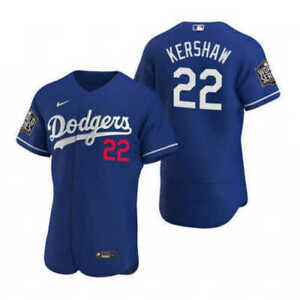 Clayton Kershaw #22 Dodgers World Series 2020 Jersey Stitched