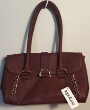 Genuine leather Lupoluna handbag burgundy large NEW NWT
