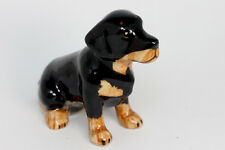 Miniature Ceramic Animals rottweiler Statue Decorative Collectibles