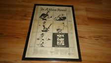 GENTLE GIANT in a glass house-1973 framed original poster sized advert