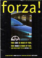 Fiat Forza Magazine Winter 1997 UK Market Brochure Punto