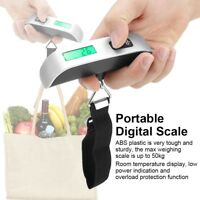 Portable 50kg/10g Digital Luggage Scale LCD Display Travel Hook Hanging Weight