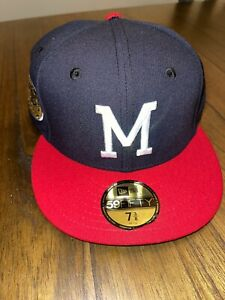 7 3/8 Hat Club Exclusive ASG 55 Two Tone Milwaukee Braves Green UV