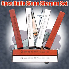 6Pcs Sharpening System Kitchen Knife Cutting Sharpener Stones Abrader Kit T