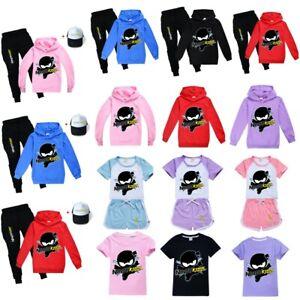 Ninja Kids Tracksuit Kids Nightdress Sweatshirt T shirt Tops Hoodie Trouser Hat