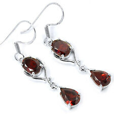Garnet 925 Sterling Silver Earrings Jewelry E2323G