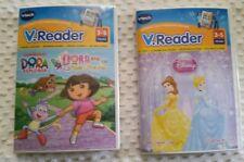 Lot of 2 V tech V.Reader E Readers, Dora the Explorer & Disney Tangled,Sealed