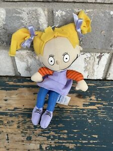 """1997 vintage Applause Nickelodeon Rugrats Angelica Toy Plush 8"""" P2"""