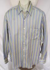 ERMENEGILDO ZEGNA Shirt Sz XL Made In Italy Blue/Green HANDSOME High End Italian