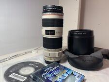 70-200mm Canon EF F/4 IS USM Lente L + Mount Anello A II (W) RRP £ 159+ Hoya Filtro £ 21.