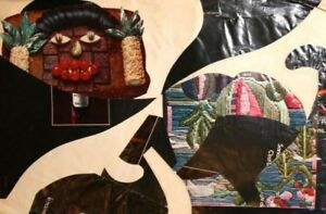 Abstract figures hand made collage
