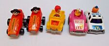 McDonalds ERTL Pull Back Cars Vehicle Lot Birdie Hamburglar Big Mac Ronald 1984