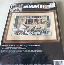 Dimensions Counted Cross Stitch Kit  - Three Bird Watchers - Kittens