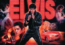 Elvis Presley, The King, Different Pictures, Car, Graceland, On Stage - Postcard