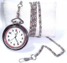 Vintage Swiss Army Pocket Watch 24720 Victorinox Open Face Silver Case Easy Read