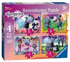 NEW! Ravensburger Vampirina 4 in a box disney jigsaw puzzle set Age 3+ 06973