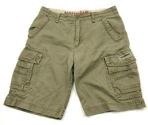 Unionbay Cargo Shorts Size 32 Waist Chino Brown Adult Loose Fit Jorts Denim Mens