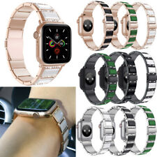 Bling Ceramic Stainless Band Wristwatch Strap For Apple Watch Series 5 4 3 2 1