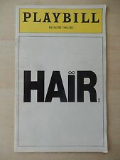August 1977 - Biltmore Theatre Playbill - Hair - Ellen Foley - Peter Gallagher