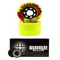 Outdoor Skate Wheels With Bearings - Atom Road Hog with Bionic 8mm Bearings