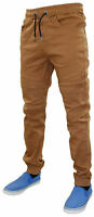 New Men Slim Cuffed Jeans Stretch Cotton Joggers Trouser Pants All Waists Sizes