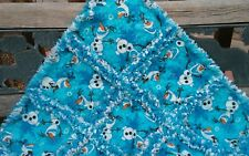 Frozen Olaf rag throw quilt all flannel  handmade #98
