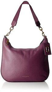 New Marc Jacobs Leather Gotham Hobo Bag Handbag tote Iris logo tag