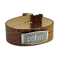 Bracciale Uomo Police PJ.21321BLC-05 Pelle Piastrina Acciaio Ardiglione Squamato