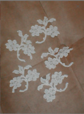 New listing lot of Ten Ivory Vintage Chantilly Lace Appliques