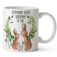 Personalised Mug Bunny Anniversary Gift Ceramic Cup Birthday Tea Coffee KM03