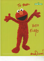 """2019 SDCC Sesame Street  """"Elmo"""" Hand Signed 8 by 10 Photo By Ryan Dillon"""