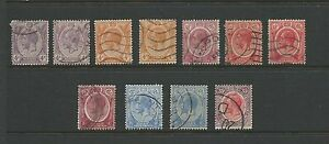1922 Straits Settlements King George V Part set of 11 Used Sold as per Scan