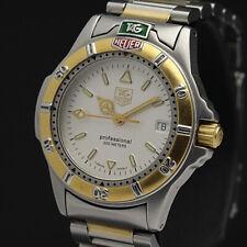 TAG HEUER Watch 4000 WF1220-K0   Quartz 18K Gold Plated St.Steel Date   T2162