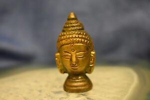 Mini Brass Buddha Head