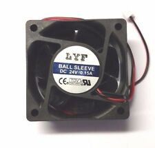 Cooling Fan 60mm x 60mm x 25mm 24V 0.15A 2 pin LYF - Aussie Seller