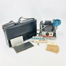 Polaroid 104 Automatic Land Camera 1960s Vintage w/Case Flash Manual Cold Clip